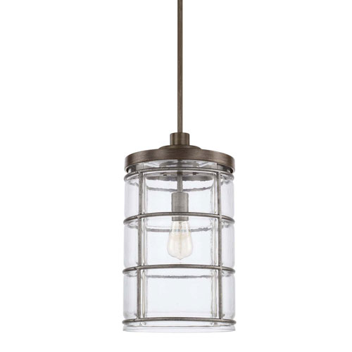 Colby Urban Gray Nine-Inch One-Light Pendant