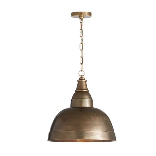 Oxidized Brass 17-Inch One-Light Pendant