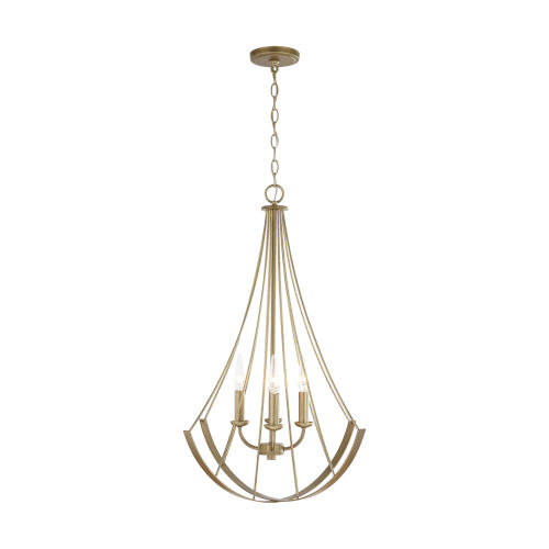 Aged Brass Painted Four-Light Pendant