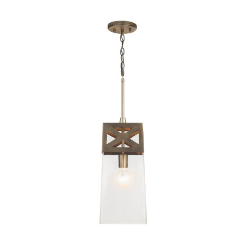 Aged Brass One-Light Mini Pendant