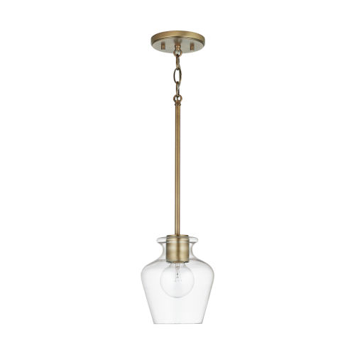 Danes One-Light Mini Pendant with Clear Glass