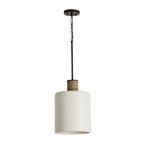 One-Light Pendant with Soft White Ceramic Glass