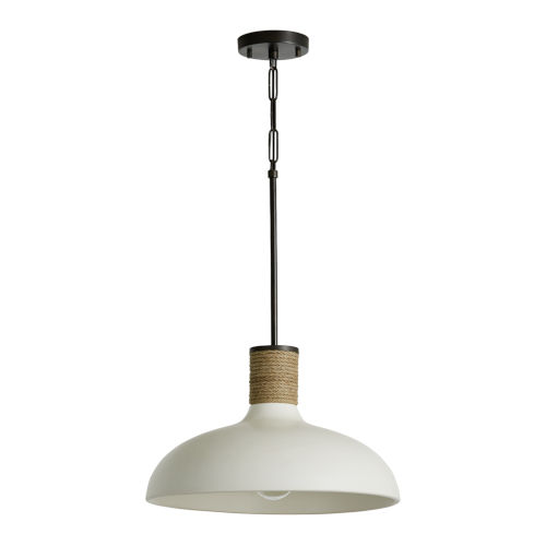18-Inch 120V One-Light Pendant with Soft White Ceramic Glass