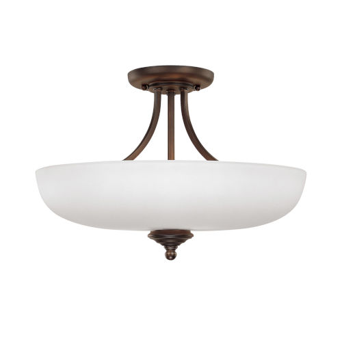 Chapman Burnished Bronze Three-Light Semi-Flush