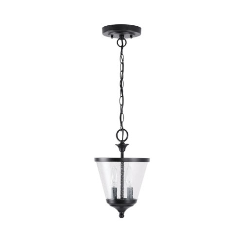 Stanton Two-Light Foyer Pendant with Clear Seeded Glass
