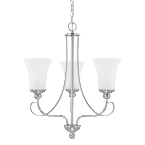 HomePlace Griffin Brushed Nickel 21-Inch Three-Light Chandelier