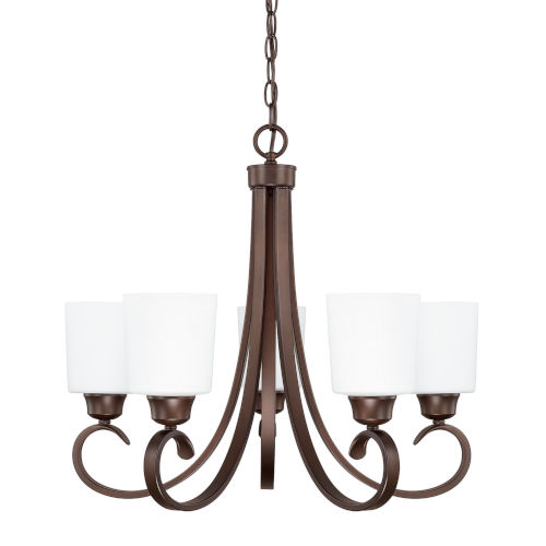 HomePlace Hayden Bronze 24-Inch Five-Light Chandelier