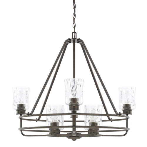 Bristol Black 31-Inch Eight-Light Chandelier