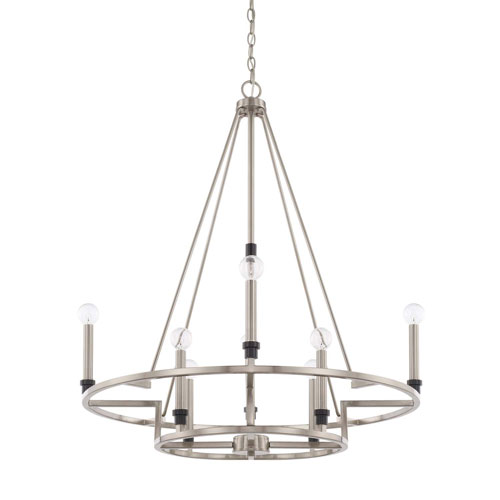 Tux Black Tie Eight-Light Chandelier