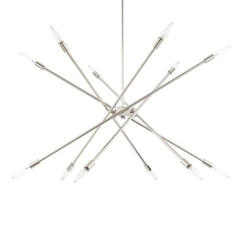 Polished Nickel 12-Light Chandelier