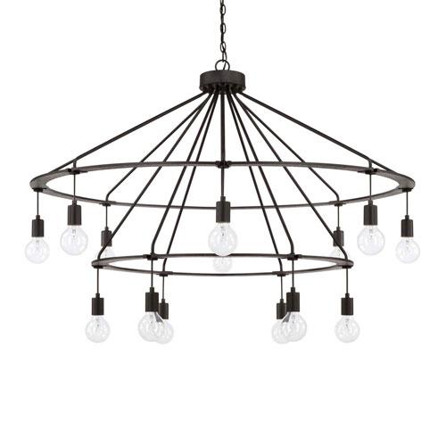 Capital Lighting Fixture Company Black Iron 14-Light Chandelier