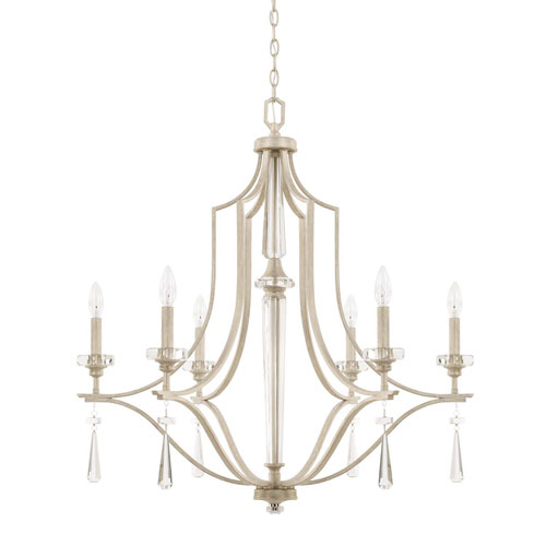Serena Winter White Six-Light Chandelier
