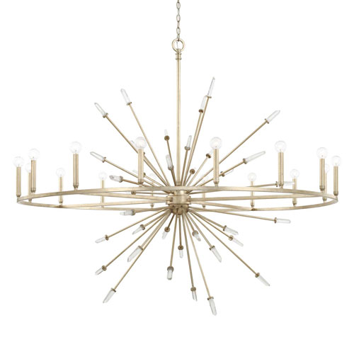 Adira Winter Gold 16-Light Chandelier