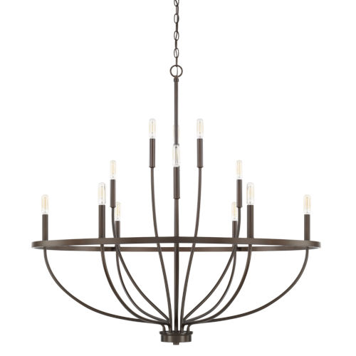 HomePlace Greyson Bronze 40-Inch 12-Light Chandelier