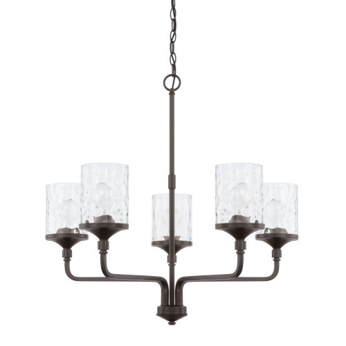 HomePlace Colton Bronze 28-Inch Five-Light Chandelier