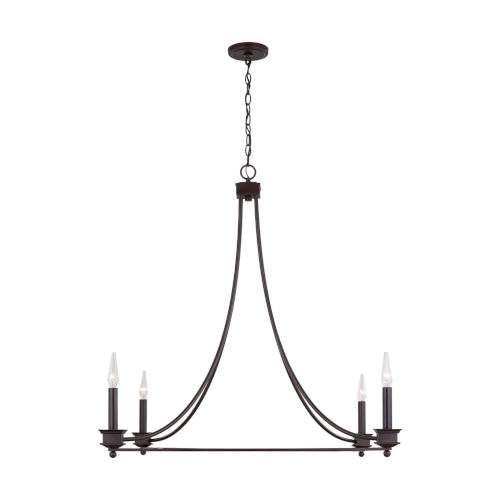 Marlow Old Bronze Four-Light Chandelier