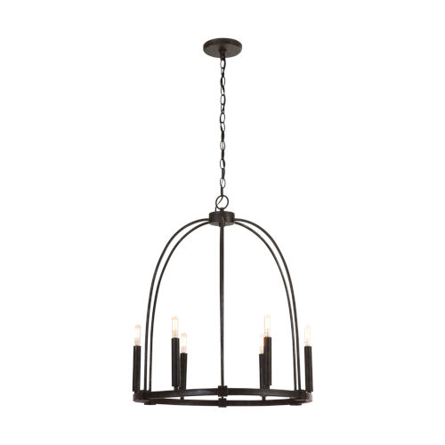 Mineral Brown Six-Light Chandelier