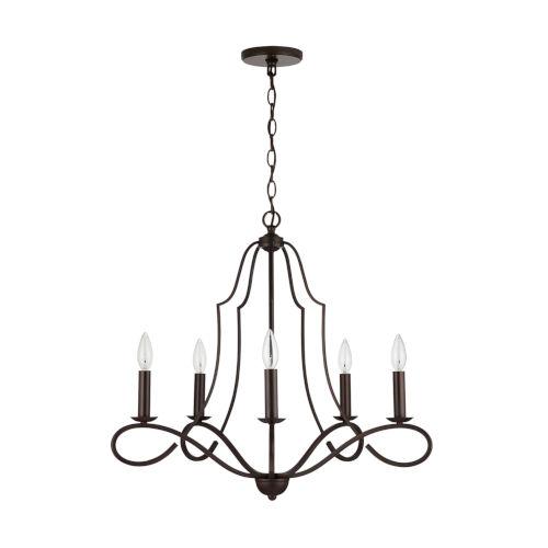 HomePlace Cameron Bronze Five-Light Chandelier