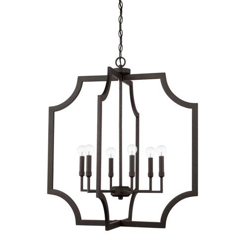 Capital Lighting Fixture Company Black Iron Six-Light Pendant