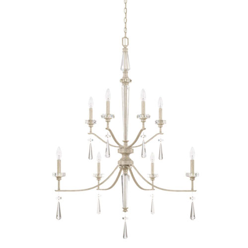 Serena Winter White Eight-Light Pendant