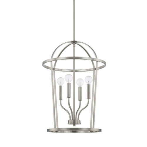 HomePlace Greyson Brushed Nickel 16-Inch Four-Light Pendant