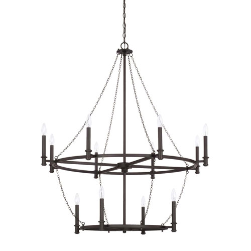Capital Lighting Fixture Company Lancaster Black Iron 12-Light Chandelier