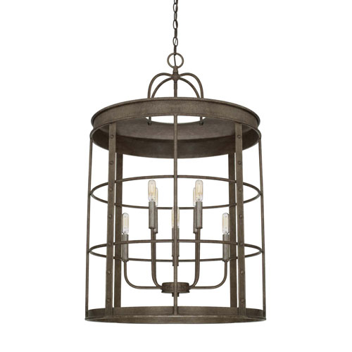 Urban Gray Eight-Light Pendant
