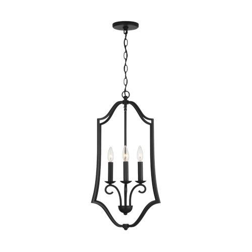 HomePlace Cameron Matte Black Four-Light Foyer Pendant