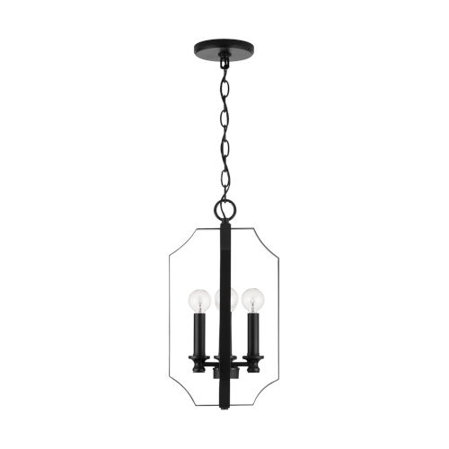 HomePlace Myles Matte Black 10-Inch Four-Light Foyer Pendant