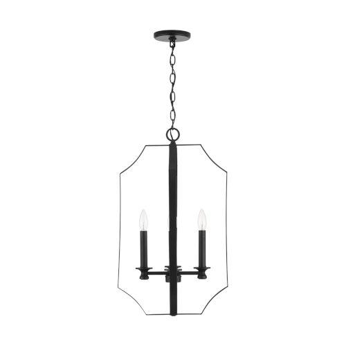 HomePlace Myles Matte Black Four-Light Foyer Pendant
