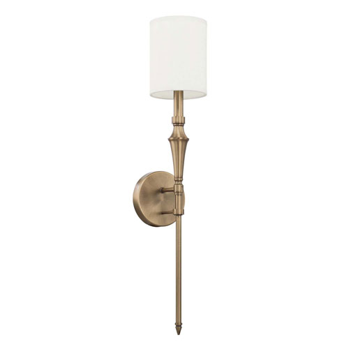 Aged Brass One-Light Sconce
