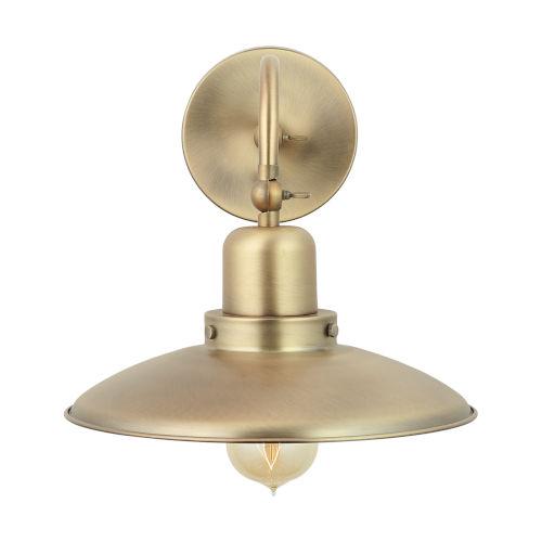 Aged Brass 10-Inch One-Light Sconce