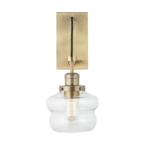 Aged Brass One-Light Sconce