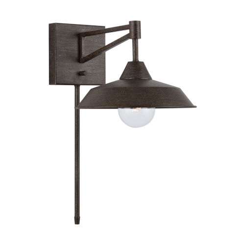 Metal and Glass One-Light Sconce