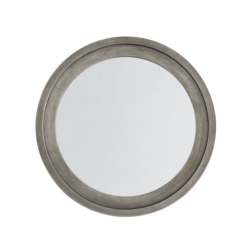 Oxidized Nickel 32 x 32 Inch Round Decorative Mirror
