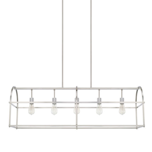 HomePlace Brushed Nickel 46-Inch Five-Light Pendant