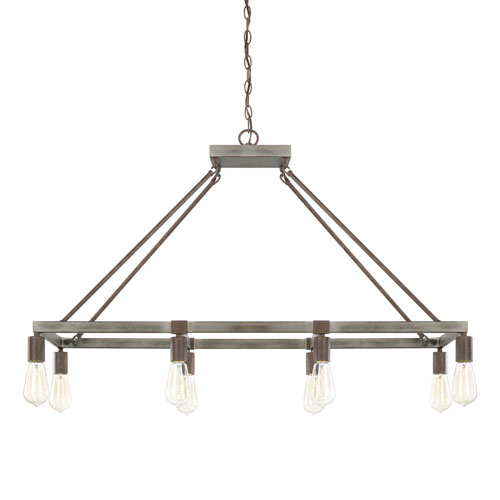 Zac Urban Gray Eight-Light Island Pendant