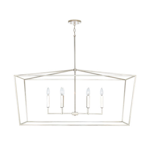 Thea Polished Nickel Six-Light Island Pendant