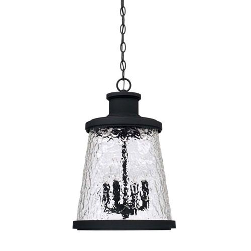 Tory Black Four-Light Outdoor Hanging Lantern