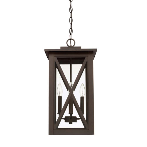 Avondale Oil Rubbed Bronze Four-Light Outdoor Hanging Lantern