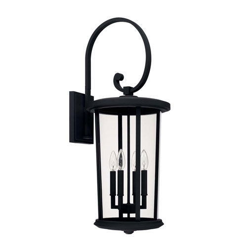Howell Black Four-Light Outdoor Wall Lantern