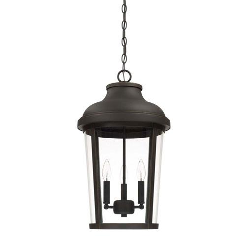 Dunbar Oil Rubbed Bronze Three-Light Outdoor Hanging Lantern