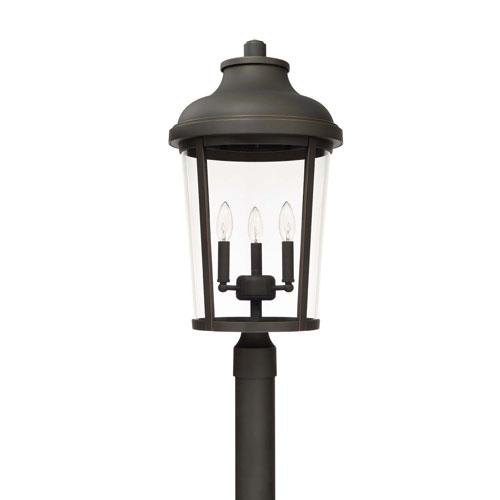 Dunbar Oil Rubbed Bronze Three-Light Outdoor Post Lantern