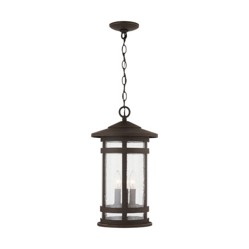 Mission Hills Oiled Bronze Three-Light Outdoor Hanging Lantern