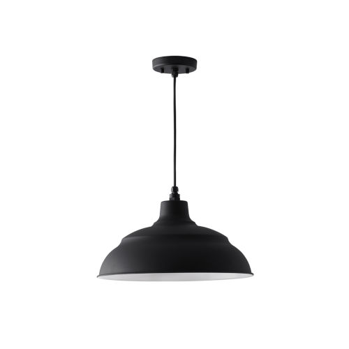 RLM Black 17-Inch One-Light Outdoor Hanging Pendant