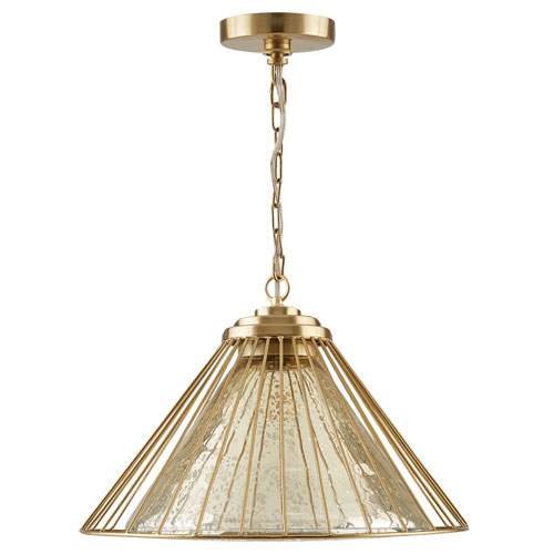 Austin Allen & Co. Matte Gold One-Light Artisan Pendant