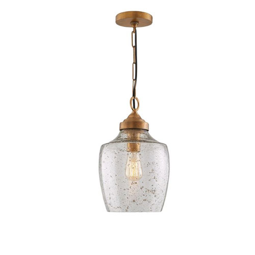 Rose Brass One-Light Farmhouse Mini Pendant