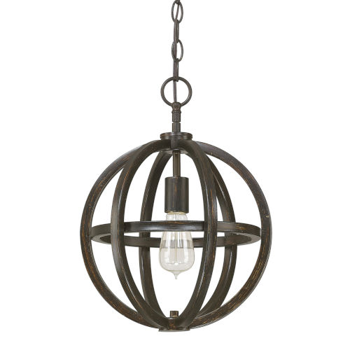 Cole Brushed Espresso 12-Inch One-Light Pendant