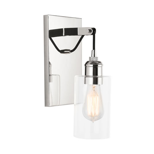 Prospero Polished Nickel 12-Inch One-Light Wall Sconce