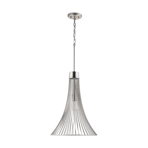 Chesney Brushed Nickel 25-Inch One-Light Pendant